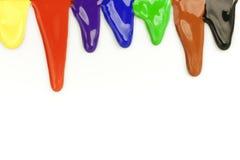Coloree las gotas Fotos de archivo libres de regalías