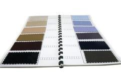 Coloree las muestras de una tela Imágenes de archivo libres de regalías