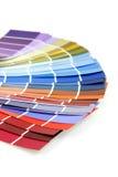 Coloree las muestras para la pintura Fotos de archivo