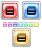 Coloree los botones del Web. Foto de archivo libre de regalías