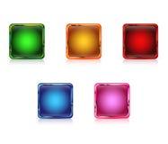Coloree los botones del Web vacíos Foto de archivo libre de regalías