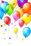 Coloree los globos brillantes del feliz cumpleaños Imagen de archivo libre de regalías