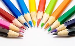 Coloree los lápices Fotografía de archivo libre de regalías