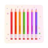 Coloree los lápices ilustración del vector