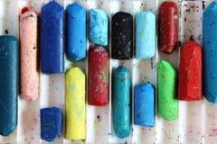 Coloree los pasteles fotografía de archivo