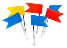 Coloree los pernos foto, perno de la bandera del empuje del marcador Fotografía de archivo libre de regalías