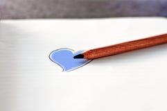 Coloree su corazón Foto de archivo libre de regalías