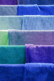 Coloreful fabric. Cloth on drying Royalty Free Stock Image