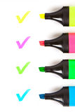 Coloreful markers Stock Photos