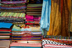Coloreful scarves Stock Images