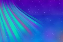 Colores abstractos de la aurora boreal ilustración del vector