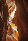 Colores abstractos: Mirando para arriba Through un barranco de la ranura Imagen de archivo libre de regalías