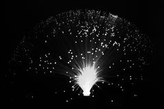Colores abstractos negros blancos coloreados del enfoque del papel pintado del fondo de las estrellas, trenzando Fotografía de archivo libre de regalías