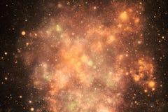 Colores anaranjados del polvo del espacio exterior imágenes de archivo libres de regalías