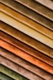 Colores apacibles de la tela del terciopelo Imagen de archivo