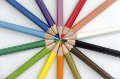 Colores apilados parte radial Foto de archivo
