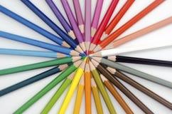 Colores apilados parte radial Fotografía de archivo