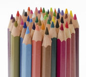 Colores apilados rectos Fotografía de archivo