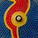 Colores azul marino, anaranjados y rojos del extracto inconsútil p Fotos de archivo libres de regalías
