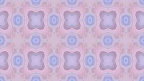 colores azules del fondo del mosaico del caleidoscopio y púrpuras en colores pastel video cambiantes animados abstractos