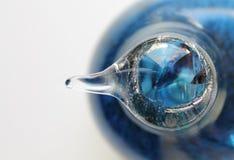 Colores azules en vidrio Foto de archivo libre de regalías