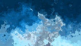 Colores azules video manchados animados abstractos del lazo inconsútil del fondo almacen de metraje de vídeo