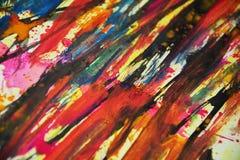 Colores borrosos azul anaranjado negro rosado del oro, contrastes, fondo creativo de la pintura cerosa Fotos de archivo libres de regalías