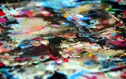 Colores borrosos cerosos coloridos oscuros azules plateados, contrastes, fondo creativo ceroso Fotos de archivo libres de regalías