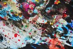 Colores borrosos cerosos hipnóticos, contrastes, fondo creativo ceroso Fotos de archivo