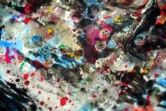 Colores borrosos cerosos hipnóticos vivos, contrastes, fondo creativo ceroso Foto de archivo libre de regalías