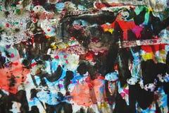Colores borrosos cerosos hipnóticos vivos de la pintura colorida, contrastes, fondo creativo ceroso Fotos de archivo libres de regalías
