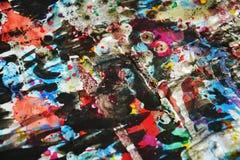 Colores borrosos cerosos vivos del puple anaranjado del ddark, contrastes, fondo creativo ceroso Fotografía de archivo