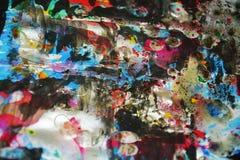 Colores borrosos cerosos vivos del puple oscuro azul, contrastes, fondo creativo ceroso Foto de archivo
