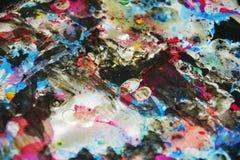 Colores borrosos cerosos vivos oscuros azules, contrastes, fondo creativo ceroso Fotografía de archivo