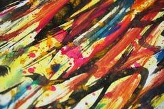 Colores borrosos coloridos, contrastes, fondo creativo de la pintura cerosa Foto de archivo libre de regalías