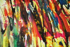 Colores borrosos, contrastes, fondo creativo de la pintura cerosa Imagenes de archivo