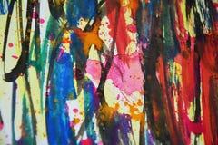 Colores borrosos extracto vivo, contrastes, fondo creativo de la pintura cerosa Imagen de archivo libre de regalías