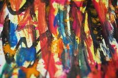 Colores borrosos pastel abstracto vivo, contrastes, fondo creativo de la pintura cerosa Imagen de archivo