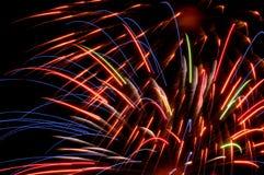 Colores brillantes de los fuegos artificiales Imagen de archivo libre de regalías