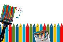 Colores brillantes del bastón de caramelo de la brocha del concepto del ejemplo del &Fun Imagenes de archivo