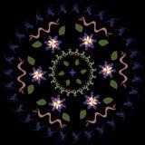 Colores circulares borrosos extracto del modelo cuatro libre illustration