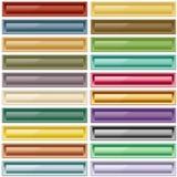 Colores clasificados botones del Web Fotos de archivo