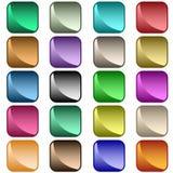 Colores clasificados botones del Web Imagen de archivo libre de regalías