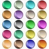 Colores clasificados botones del Web Imágenes de archivo libres de regalías