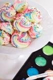 Colores coloridos del arco iris de los merengues Imagen de archivo