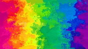 Colores completos video inconsútiles manchados animados abstractos del arco iris del espectro del fondo almacen de video