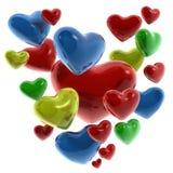 colores corazones de Στοκ Εικόνα