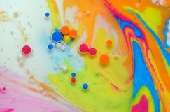 Colores creados por el aceite y la pintura Imagen de archivo libre de regalías