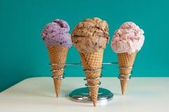 Colores crema del hielo Imagen de archivo libre de regalías