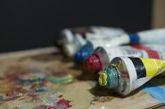 Colores de aceite Fotos de archivo libres de regalías